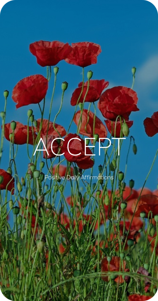 Accept One Word Mantra Affirmation Card