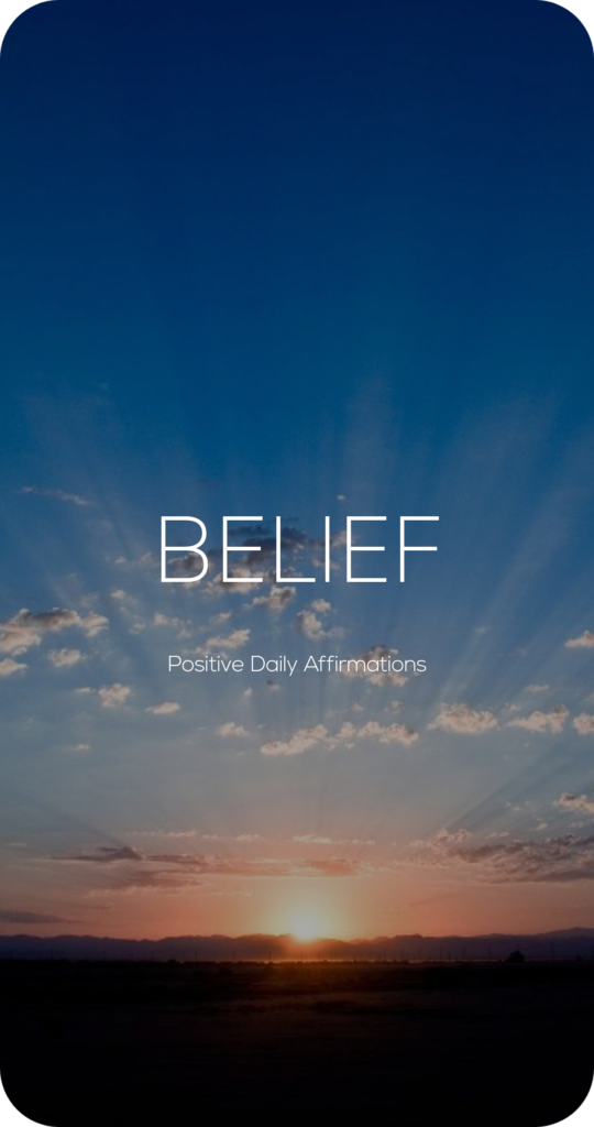 Belief One Word Mantra Affirmation Card