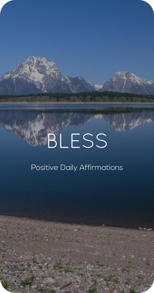 Bless One Word Mantra Affirmation Card