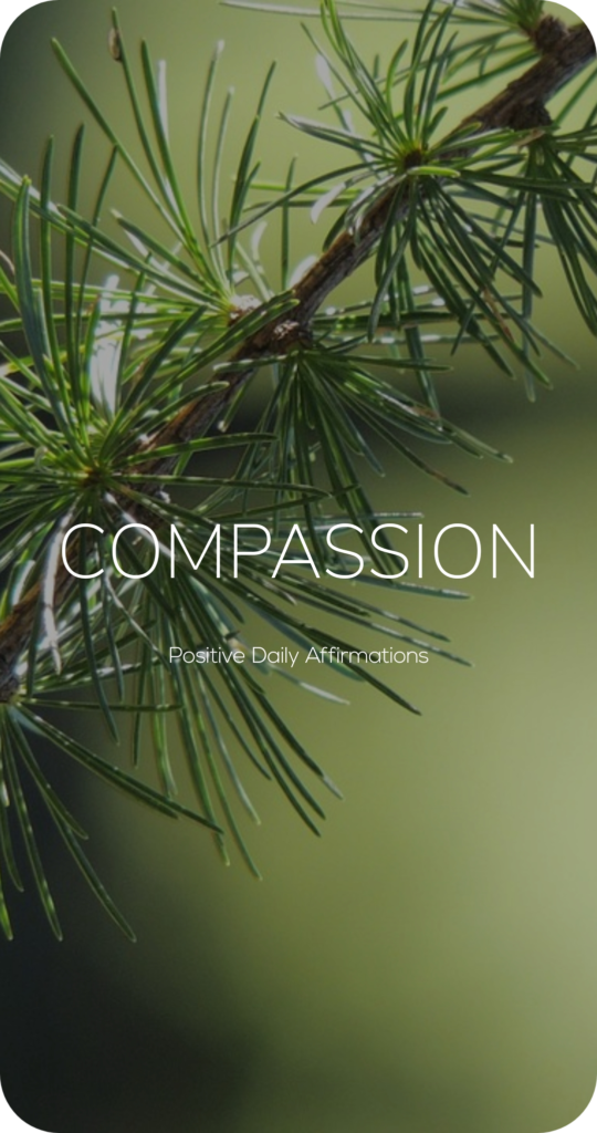 Compassion One Word Mantra Affirmation Card