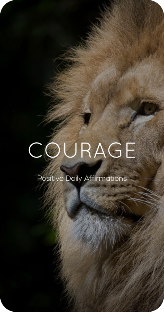 Courage One Word Mantra Affirmation Card