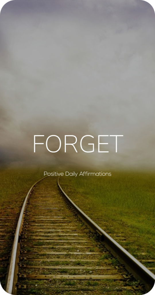 Forget One Word Mantra Affirmation Card