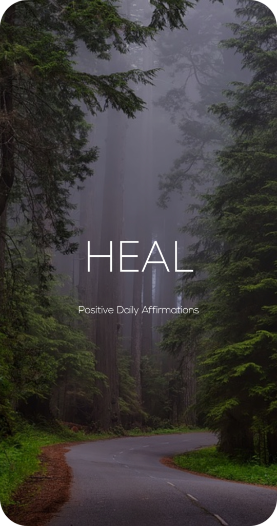 Heal One Word Mantra Affirmation Card