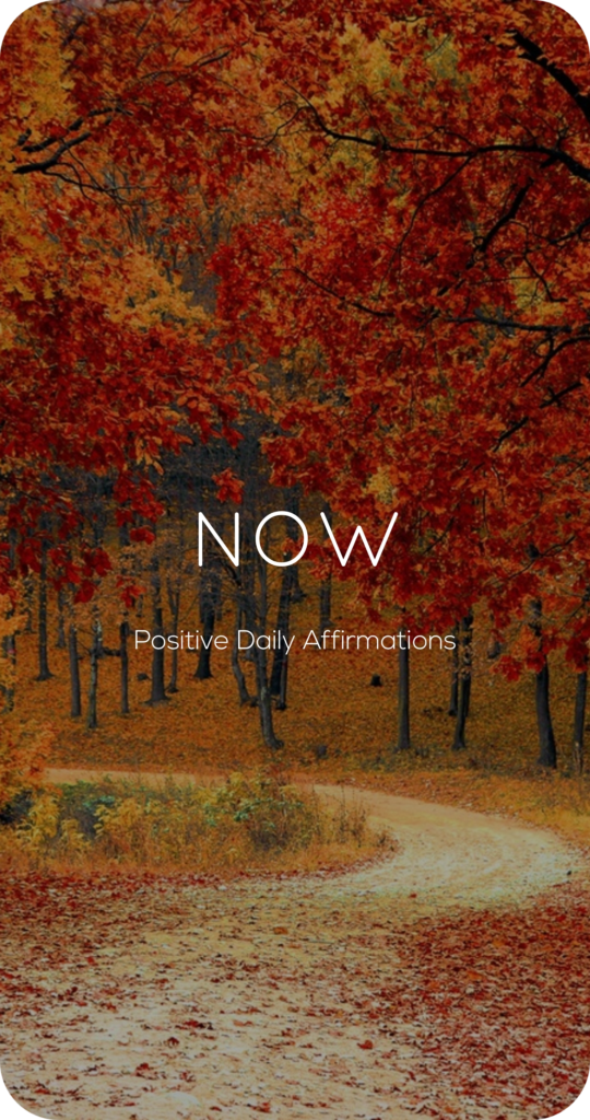 Now One Word Mantra Affirmation Card