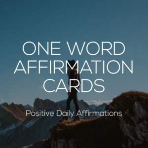 One Word Affirmation Cards