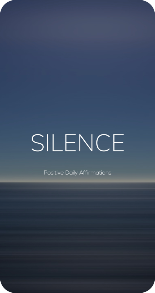 Silence One Word Mantra Affirmation Card