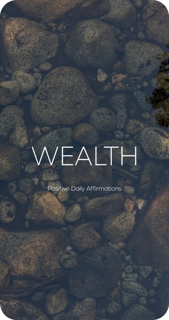 Wealth One Word Mantra Affirmation Card